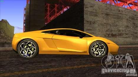 Lamborghini Gallardo SE для GTA San Andreas салон