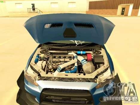 Mitsubishi Lancer Evolution X Time Attack для GTA San Andreas вид сбоку