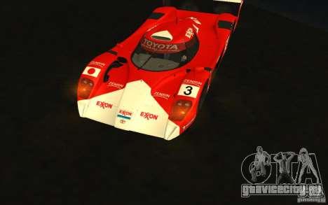 Toyota GT-One TS020 для GTA San Andreas вид сзади