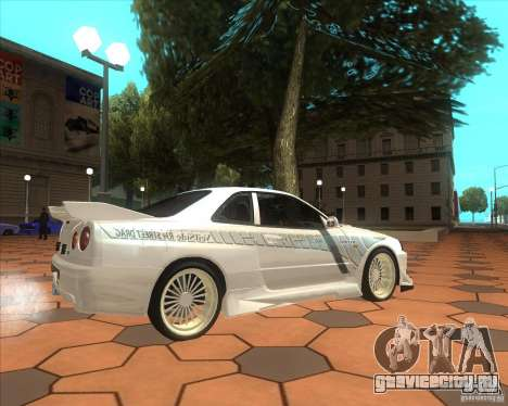 Nissan Skyline R34 Veilside street drag для GTA San Andreas