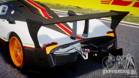 Pagani Zonda R 2009 Italian Stripes для GTA 4 салон