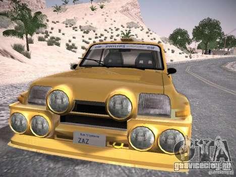 Renault 5 Turbo для GTA San Andreas вид сзади слева