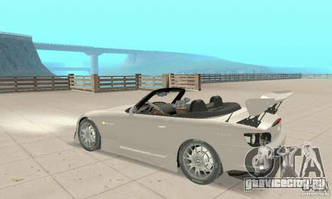 Honda S2000 Cabrio West Tuning для GTA San Andreas вид сзади