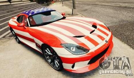 Dodge Viper GTS 2013 для GTA 4 вид изнутри