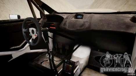 Ford Fiesta RS WRC для GTA 4 вид сзади