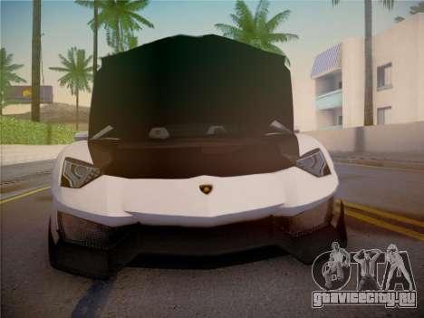 Lamborghini Aventador LP700-4 Roadstar для GTA San Andreas вид сверху