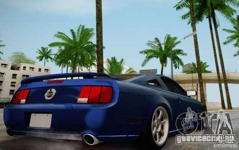 Ford Mustang Twin Turbo для GTA San Andreas вид сзади