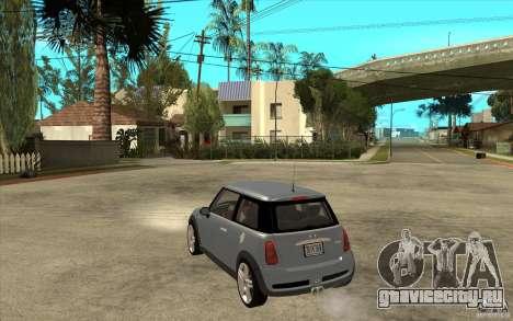 Mini Cooper - Stock для GTA San Andreas вид сзади слева
