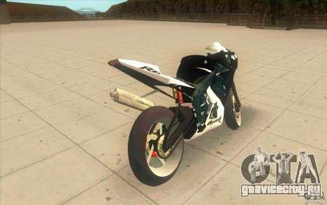 Yamaha Copbike Beta для GTA San Andreas вид сзади слева
