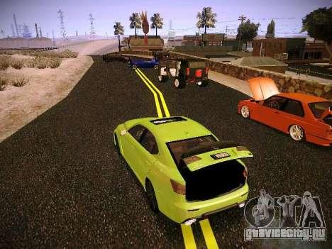 Lexus I SF для GTA San Andreas вид сзади