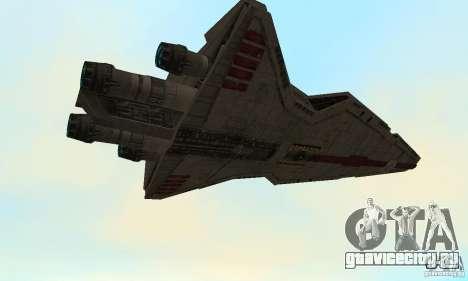 Republic Attack Cruiser Venator class v3 для GTA San Andreas вид сзади
