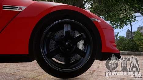 Nissan GTR R35 v1.0 для GTA 4 вид сбоку