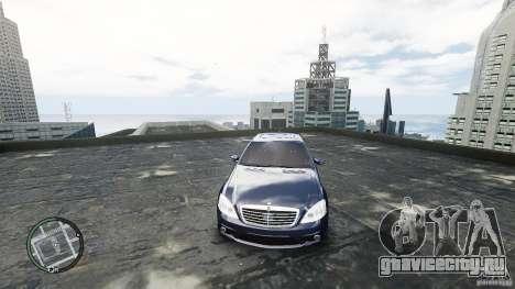 Mercedes-Benz S65 AMG для GTA 4 вид изнутри