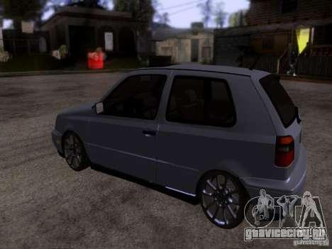 Volkswagen Golf 3 VR6 для GTA San Andreas вид сзади слева