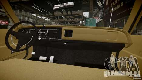 Dodge Monaco 1974 stok rims для GTA 4 вид снизу