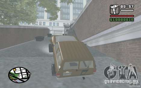 Toyota Land Cruiser 70 для GTA San Andreas вид сзади