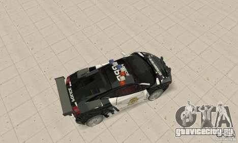 Lamborghini Gallardo Cop V1.0 для GTA San Andreas вид сзади слева