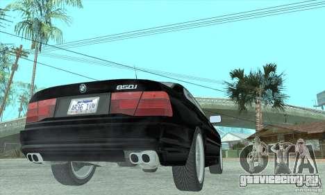 BMW 850i для GTA San Andreas вид слева
