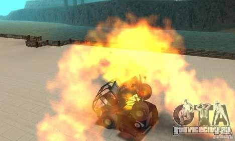 Jeep Willys Rock Crawler для GTA San Andreas вид сзади слева