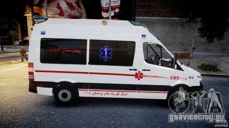 Mercedes-Benz Sprinter Iranian Ambulance [ELS] для GTA 4 вид изнутри