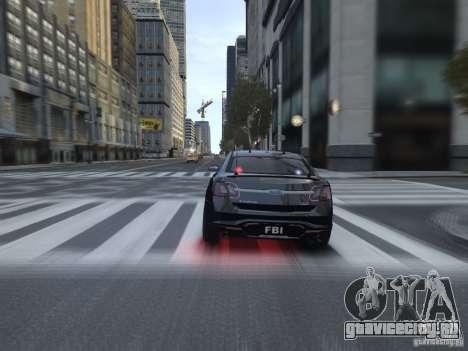 Ford Taurus FBI 2012 для GTA 4 вид справа