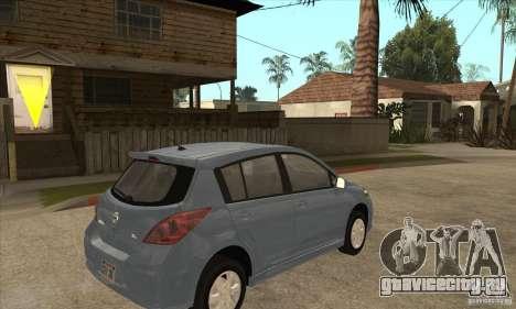 Nissan Tiida для GTA San Andreas вид справа