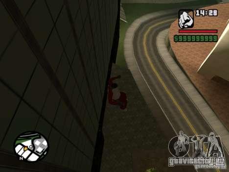 Wallrun - бесконечный бег по стене для GTA San Andreas третий скриншот