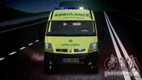 Renault Master 2007 Ambulance Scottish [ELS] для GTA 4 вид снизу