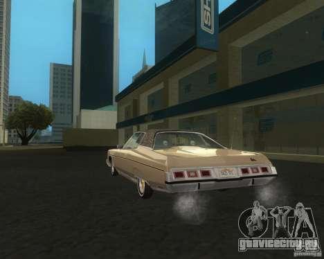 Chevrolet Caprice Classic lowrider для GTA San Andreas вид сзади слева