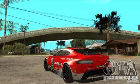 Aston Martin v8 Vantage N400 для GTA San Andreas вид изнутри