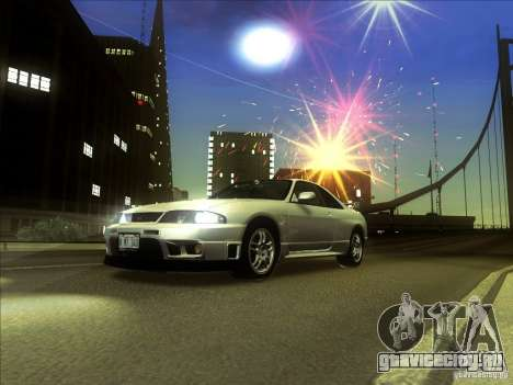 Nissan Skyline GTR BNR33 для GTA San Andreas вид слева