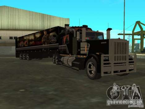 Custom Kenworth w900 - Custom - Trailer для GTA San Andreas вид сзади