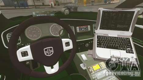 Dodge Charger 2013 Police Code 3 RX2700 v1.1 ELS для GTA 4 вид сбоку