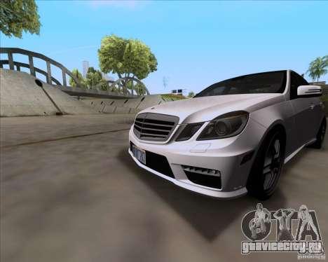 Mercedes-Benz E63 AMG V12 TT Black Revel для GTA San Andreas вид слева