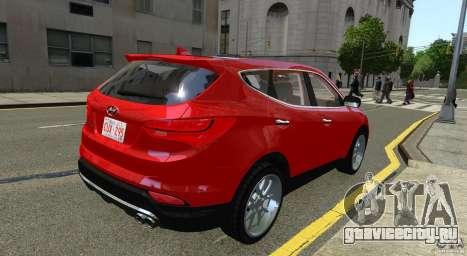 Hyundai Santa Fe Sport 2013 для GTA 4 вид сзади слева