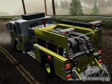 Seagrave Marauder II BCFD Engine 44 для GTA San Andreas вид сзади