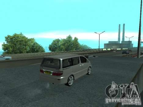 Toyota Alphard G Premium Taxi indonesia для GTA San Andreas вид сзади слева