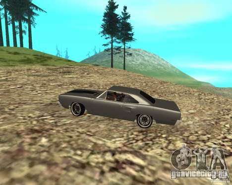 Plymouth Roadrunner 1970 для GTA San Andreas вид сзади