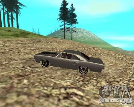 Plymouth Roadrunner 1970 для GTA San Andreas вид сзади