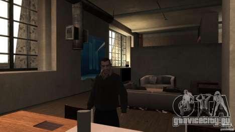Домашний свитер с воротником для GTA 4 третий скриншот