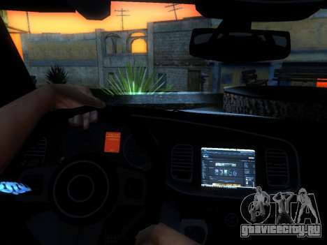 Dodge Charger SRT8 Police для GTA San Andreas вид сбоку