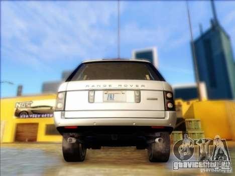 Land-Rover Range Rover Supercharged Series III для GTA San Andreas вид сзади слева