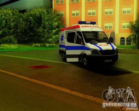 Mercedes-Benz Sprinter Baku Ambulans для GTA San Andreas вид сбоку