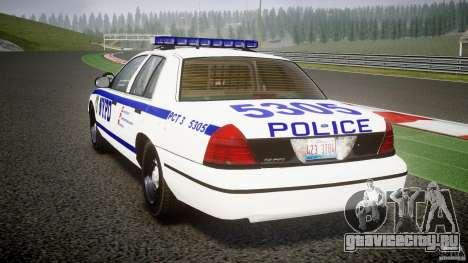 Ford Crown Victoria NYPD [ELS] для GTA 4 вид сзади слева