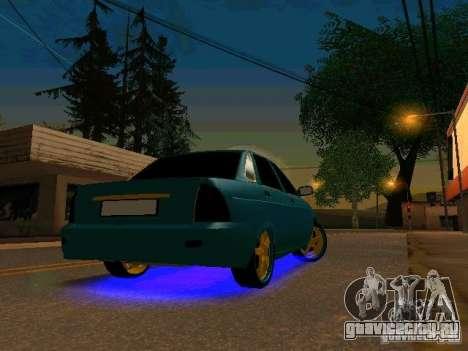 ВАЗ 2170 Приора Gold Edition для GTA San Andreas вид слева