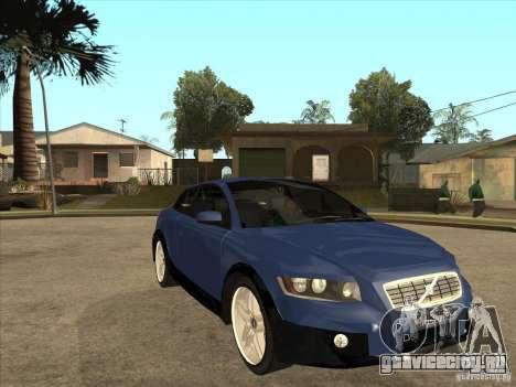 VOLVO C30 Sport 2009 для GTA San Andreas вид сзади
