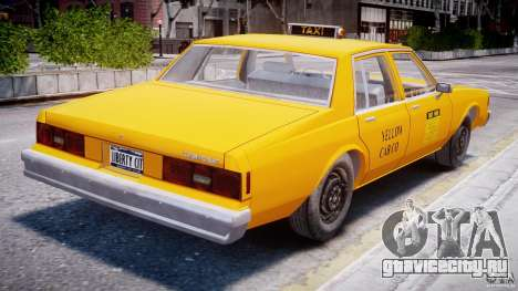 Chevrolet Impala Taxi 1983 для GTA 4 вид справа