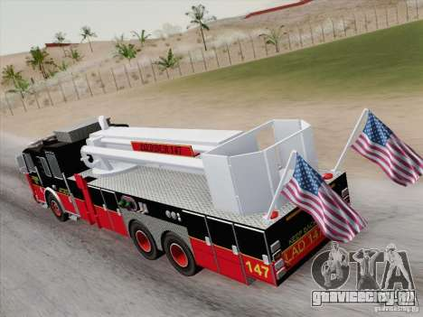Seagrave Marauder II. SFFD Ladder 147 для GTA San Andreas салон