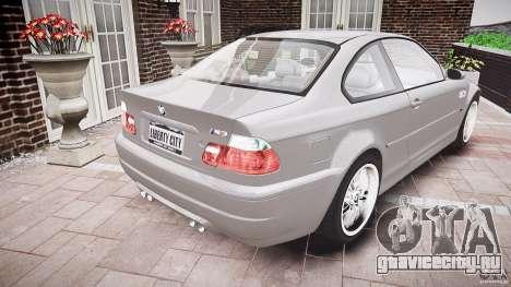 BMW M3 e46 v1.1 для GTA 4 вид сбоку