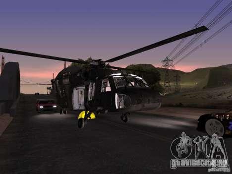 Вертолёт из CoD 4 MW для GTA San Andreas вид сбоку